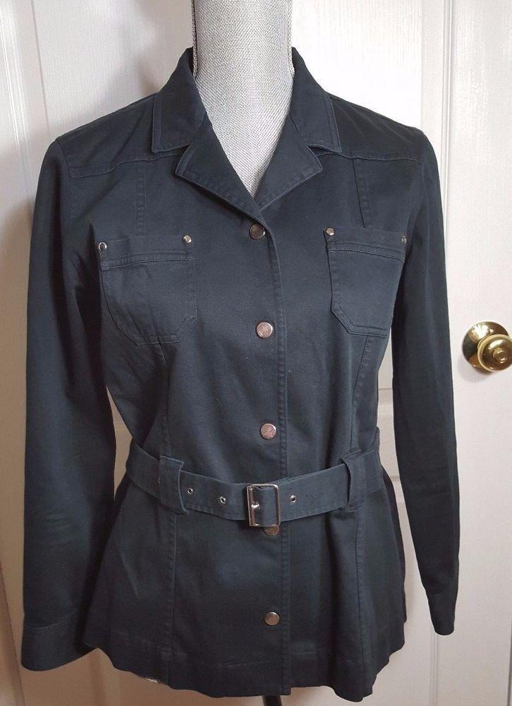 Liz Claiborne Navy Career Wear Blazer Size M #LizClaiborne #Blazer