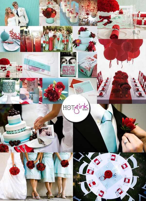 tiffany blue and black wedding decorations%0A Red and Tiffany blue my dream wedding colors