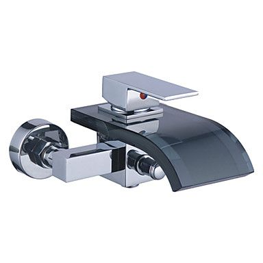 Contemporary Tub Tap with Glass Spout (Wall Mount) T0822WB  http://www.uktaps.co.uk/bathtub-taps-c-21.html