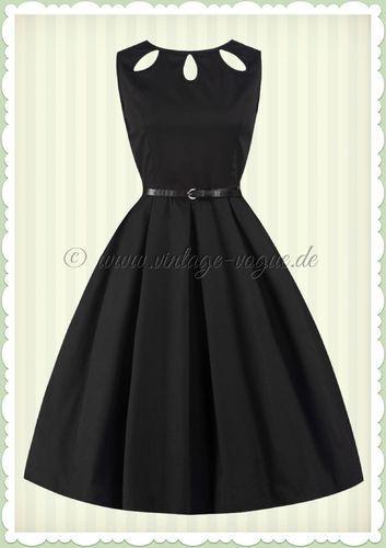 Lindy Bop 50er Jahre Rockabilly Retro Petticoat Kleid - Lily - Schwarz