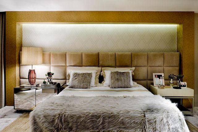 25 Cabeceiras estofadas em capitonê, placas, botonê - veja quartos com modelos lindos! - DecorSalteado