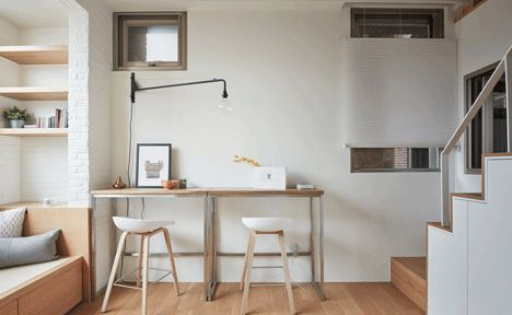 completed in 2015 in taipei taiwan this is a renovation project of an old flat which measures 22 sqm and in height due to the high housing prices in