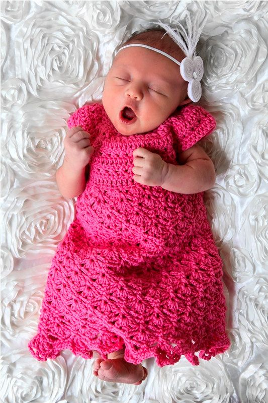 Elegant Felicity Dress Crochet Pattern Sizes Newborn, 0-3 ...