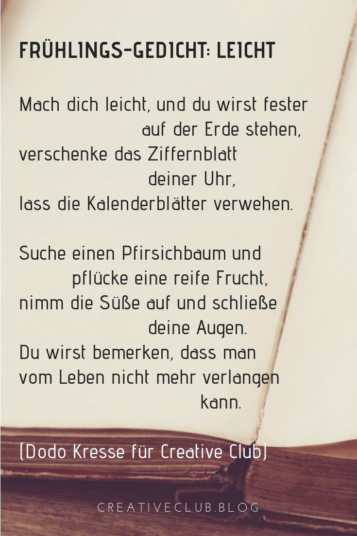 Frühlings-Gedicht: Leicht | Gedichte, Gedichte liebe