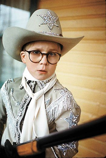 Peter Billingsley with his Red Ryder, 200-shot BB gun in the holiday classic A Christmas Story.