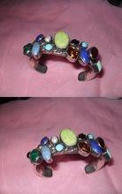 Rare Native American Multi Gem cuff Bracelet--Navajo, Signed R.Chee