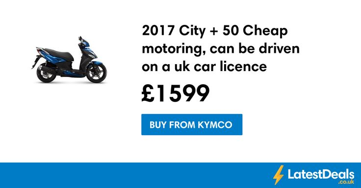 2017 City + 50 Cheap motoring, can be driven on a uk car licence, £1599 at Kymco