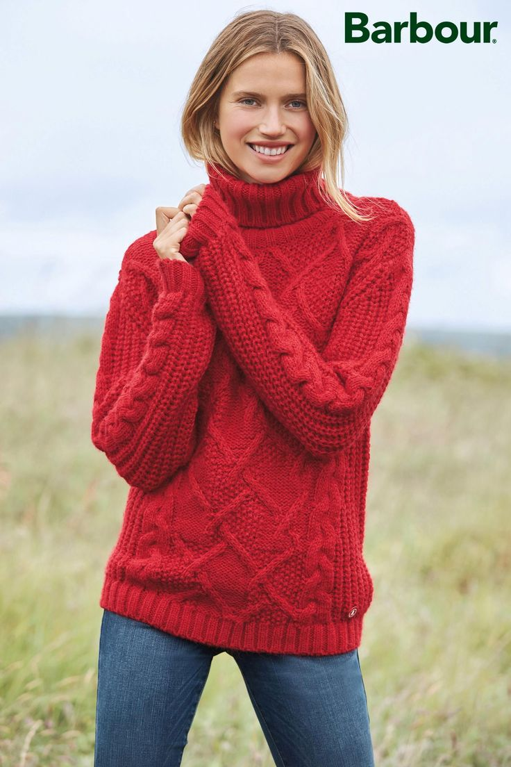 Buy Barbour® Lighthouse Red Moraine Knit from the Next UK online shop