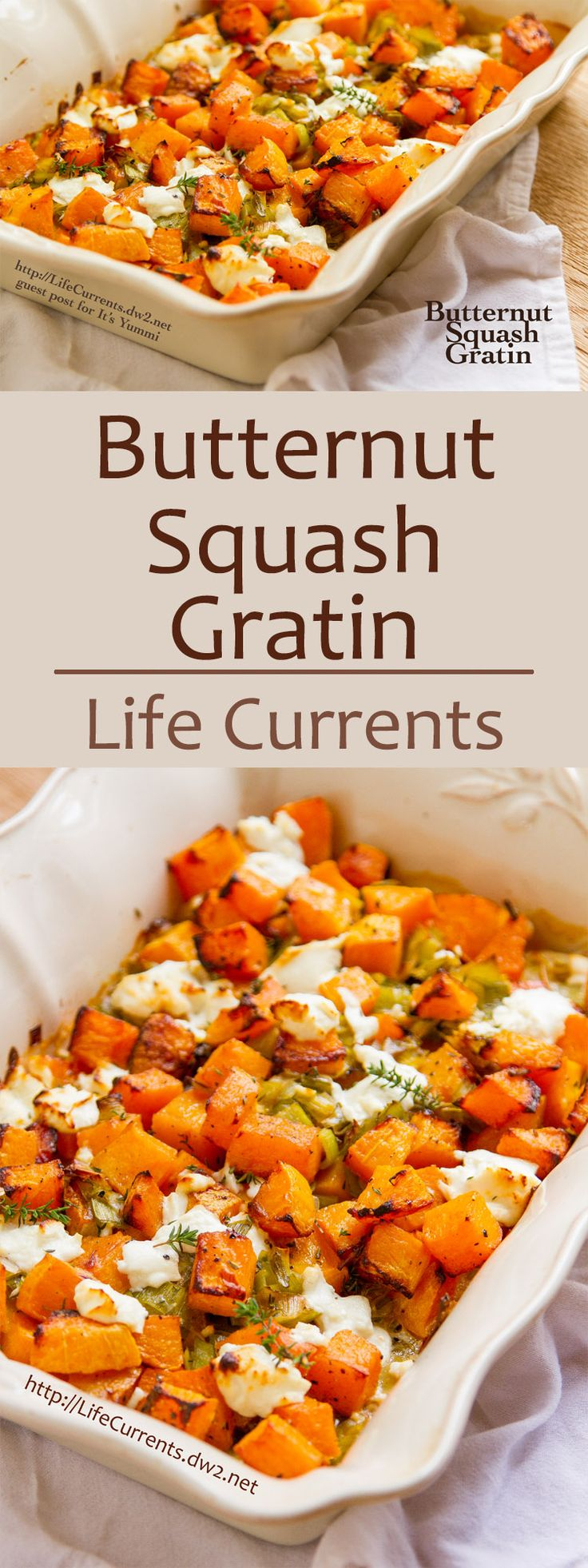 It's a great balance of flavors, filling earthy butternut squash, oniony leeks…