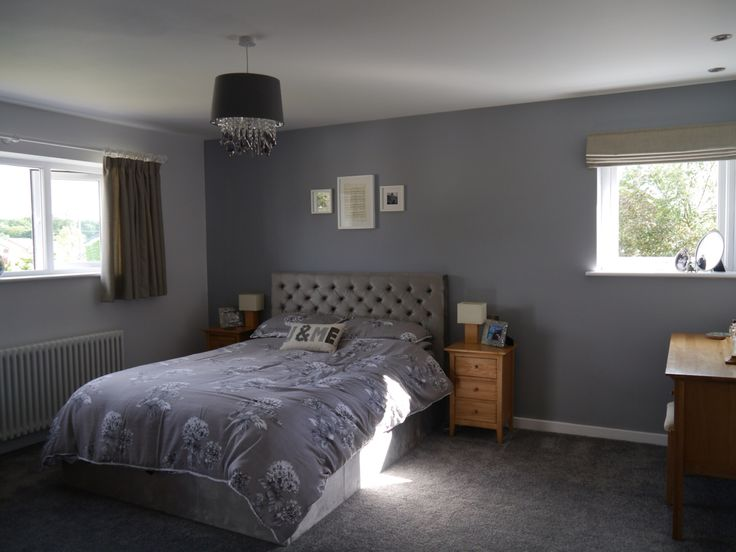 Walls In Dulux Warm Pewter Amp White Mist Bed Paris With