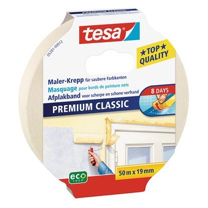 Tesa Malerband Classic Beige 50 m x 19 mm
