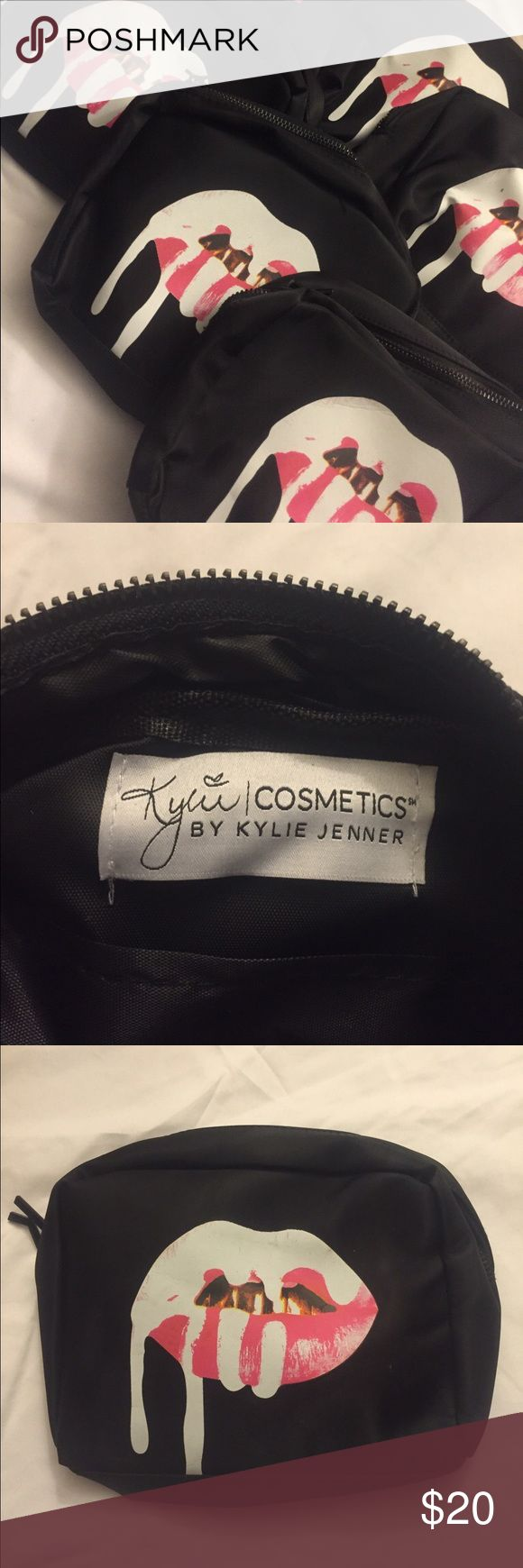 Black Kylie zip around pouch Kylie Jenner makeup bag! Kylie Cosmetics Bags Cosmetic Bags & Cases