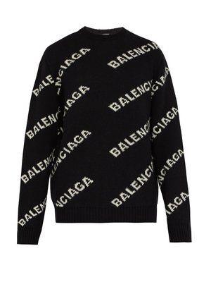 6ffb9794603292 Logo-intarsia sweater | Balenciaga | Кофты свитера in 2019 ...