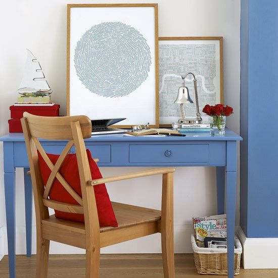 Bright and breezy home office | Home office ideas | Home office | PHOTO GALLERY | Style at Home | Housetohome.co.uk