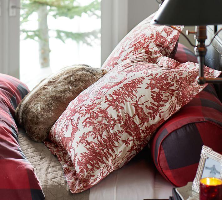 Deer Toile Buffalo Check Faux Fur Casa Pinterest