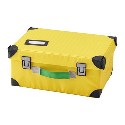 FLYTTBAR Coffre à jouets, jaune jaune 35x25x15 cm