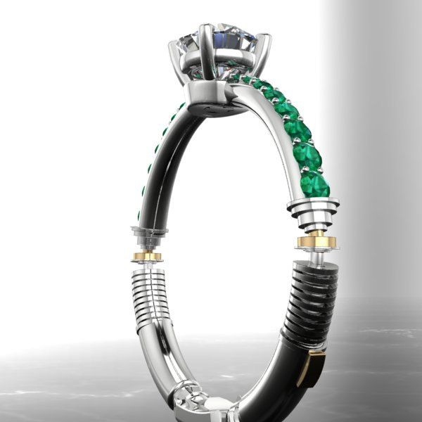 STAR WARS Inspired Lightsaber Engagement Ring