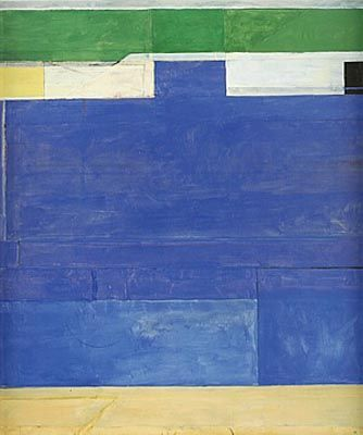 Richard Diebenkorn (April 22, 1922 – March 30, 1993) was a well-known 20th century American painter. His early work is associated with Abstract expressionism and the Bay Area Figurative Movement of the 1950s and 1960s. His later work (best known as the Ocean Park paintings) were instrumental to his achievement of worldwide acclaim.