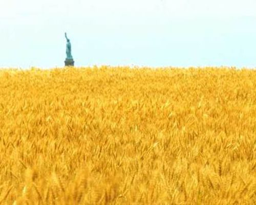 """One of the pioneers of environmental art and conceptual art, Agnes Denes is best known for her land art project, """"Wheatfield – A Confrontation."""" In May 1982, Denes planted a two-acre wheat field in Manhattan on Battery Park Landfill, just two blocks from Wall Street. The land was cleared of rocks and garbage by hand, and 200 truckloads of dirt were brought in. Denes maintained the field for four months until the crop was harvested, yielding more than 1,000 pounds of wheat. ..."""
