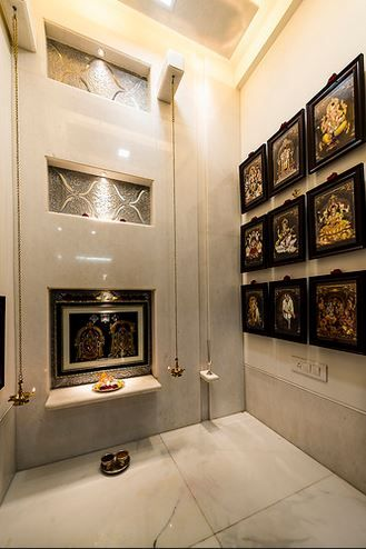 17 best images about pooja room design on pinterest for Pooja room interior designs