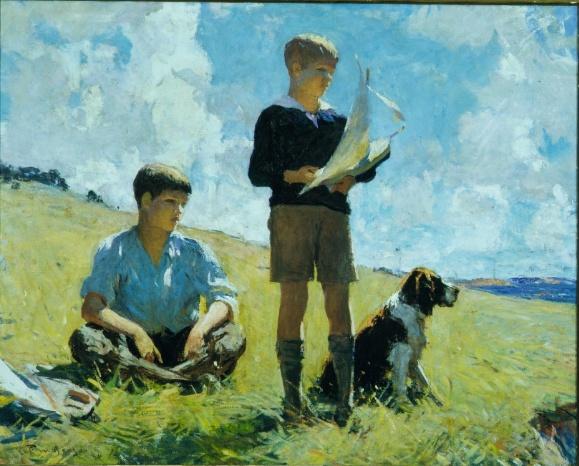 Frank Weston Benson: Two Boys, 1926