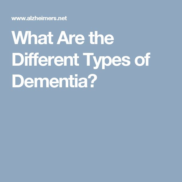 What Are the Different Types of Dementia?