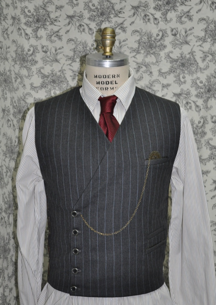 Mens Modern Double Breasted Vest---Steampunk---Modern Suit-Dapper---Made to Measure---Made to Order