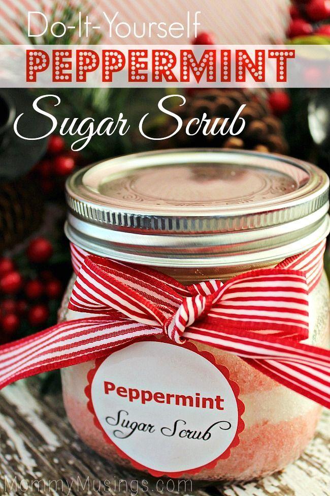 Peppermint Sugar Scrub - A great, economical Christmas gift idea!