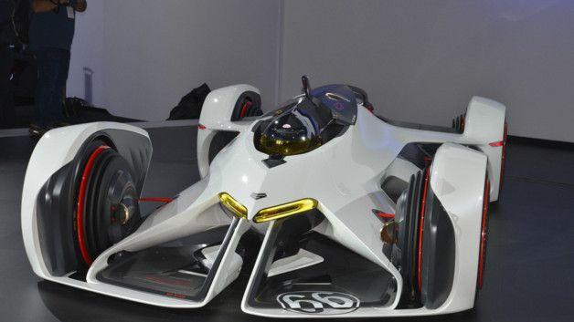 Chevrolet Chaparral 2X Vision Gran Turismo, cocnept virtuel créé pour le jeu GT6 sur PS3 et en maquette lors du Salon de Los Angeles 2014