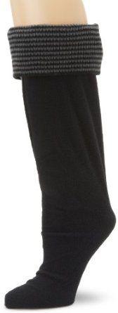 Betsey Johnson Women's Thin Stripe Cuff Knee Length Welly Sock, Black, Small/Medium Betsey Johnson. $22.00