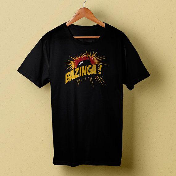 Bazinga Bomb T-Shirt, Big Bang Theory Black Tee