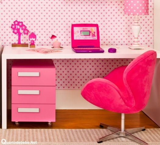 quarto infantil rosa e branco feminino