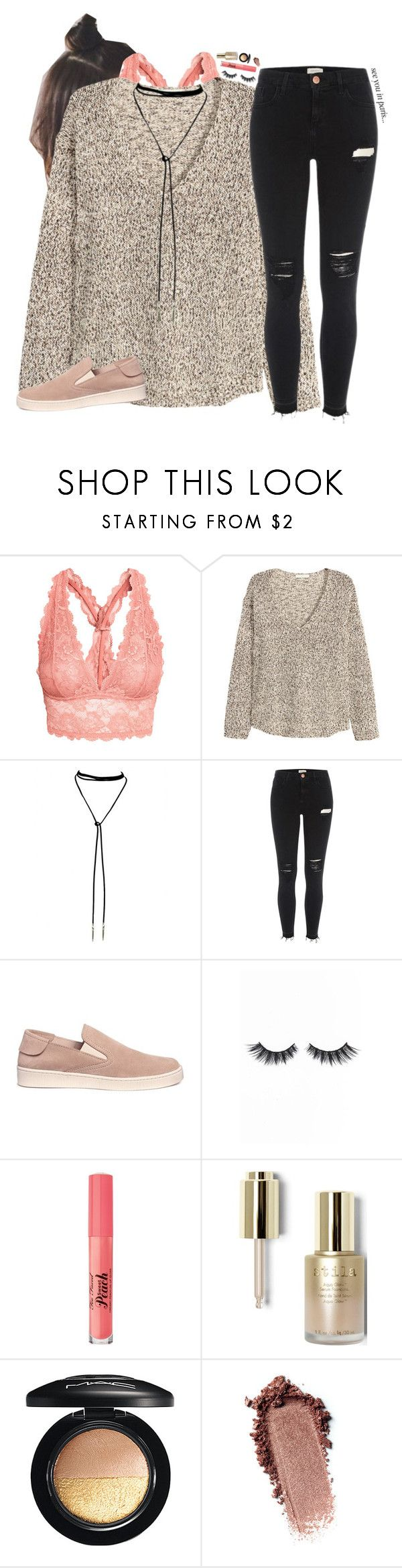 """""""I'M BACK😁"""" by sophie-dye ❤ liked on Polyvore featuring H&M, Bølo, River Island, Pedro García, Violet Voss, Too Faced Cosmetics, Stila and MAC Cosmetics"""