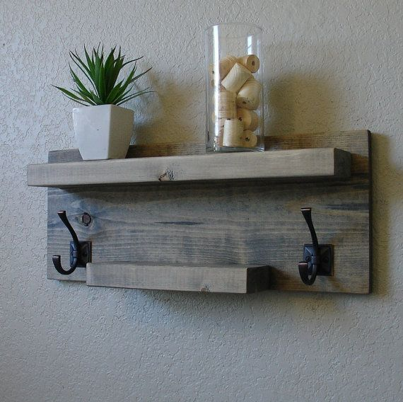 Simply Modern Rustic Bathroom Shelf by KeoDecor on Etsy