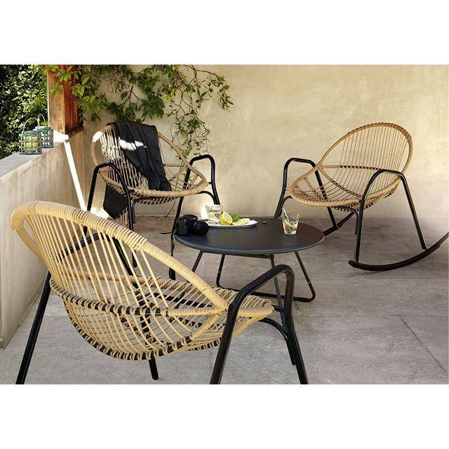 Salon de jardin en m tal collection cuba rocking chair nova castorama salon de jardin - Castorama jardin chaise roubaix ...