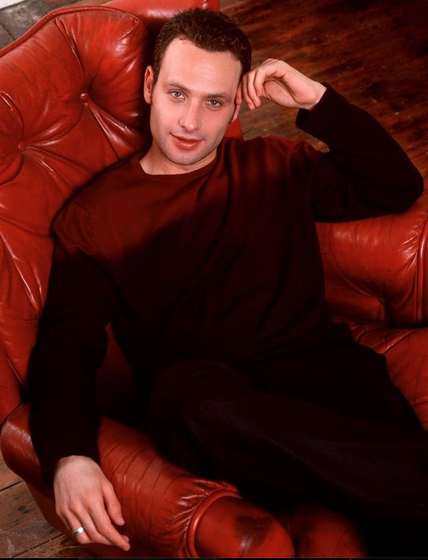 When he sits in a red leather chair and puts his hand on his head. | 56 Situations Where Andrew Lincoln Looks Absolutely Charming