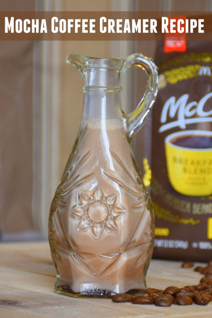 Make your own mocha or vanilla coffee creamer. #McCafeMyWay #ad