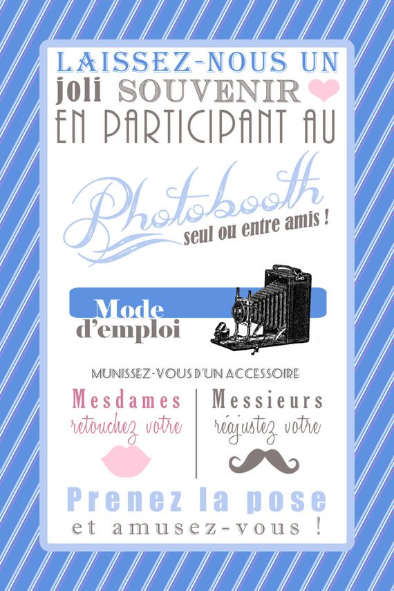 Mode d'emploi photobooth