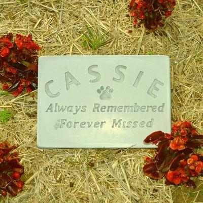 Inexpensive Cement Pet Memorial Plaques - Memorial Markers