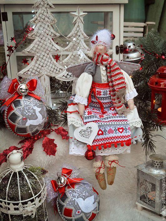 Новый год 2017 ручной работы. Ярмарка Мастеров - ручная работа. Купить Скандинавское Рождество...... Handmade. Ярко-красный, скандинавские узоры
