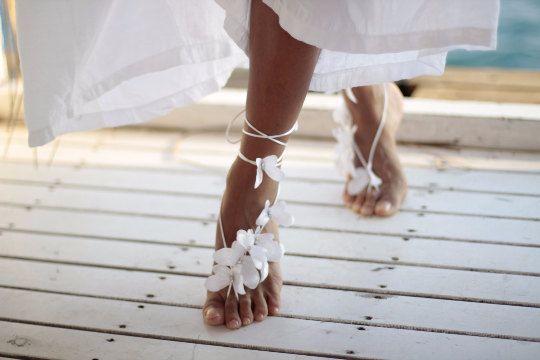 Butterfly barefoot sandal, beach wedding barefoot sandal,nude shoes