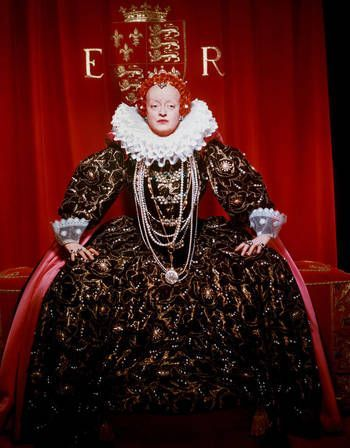 Bette Davis in 'The Virgin Queen', 19555 - Directed by Henry Koster - Starring Richard Todd & Kan Collins.