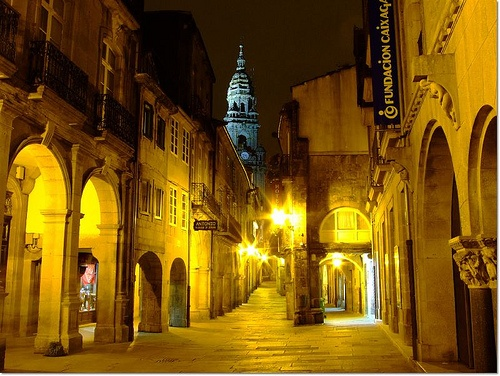 Rúa do Vilar, Santiago de Compostela. Galicia.