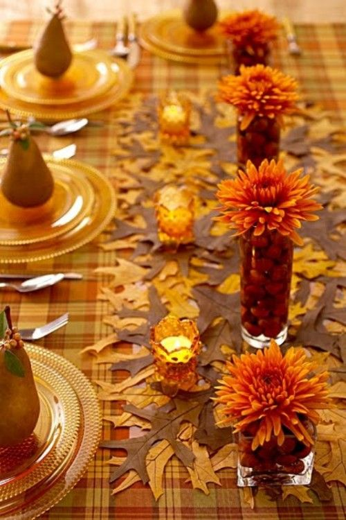 Autumn Table Setting Ideas fall table ideas ideas for any fall dinner party or your thanksgiving feast 35 Amazing Fall Wedding Table Decor Ideas Weddingomania