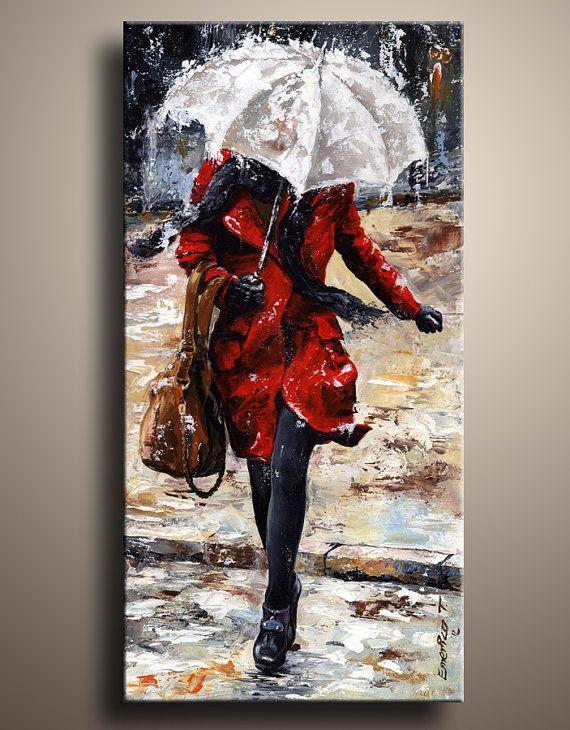 City Life Canvas Art Print Of My Figure Acrylic Painting