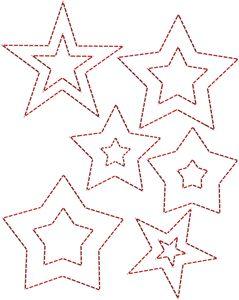 stitching templates - stars