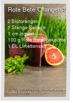 Leckeres Rote Bete Orangen Smoothie Rezept mit einfacher Schritt-für-Schritt-Anleitung: Orangen pressen , Sellerie in Stücke schneiden , Ingwer schälen...