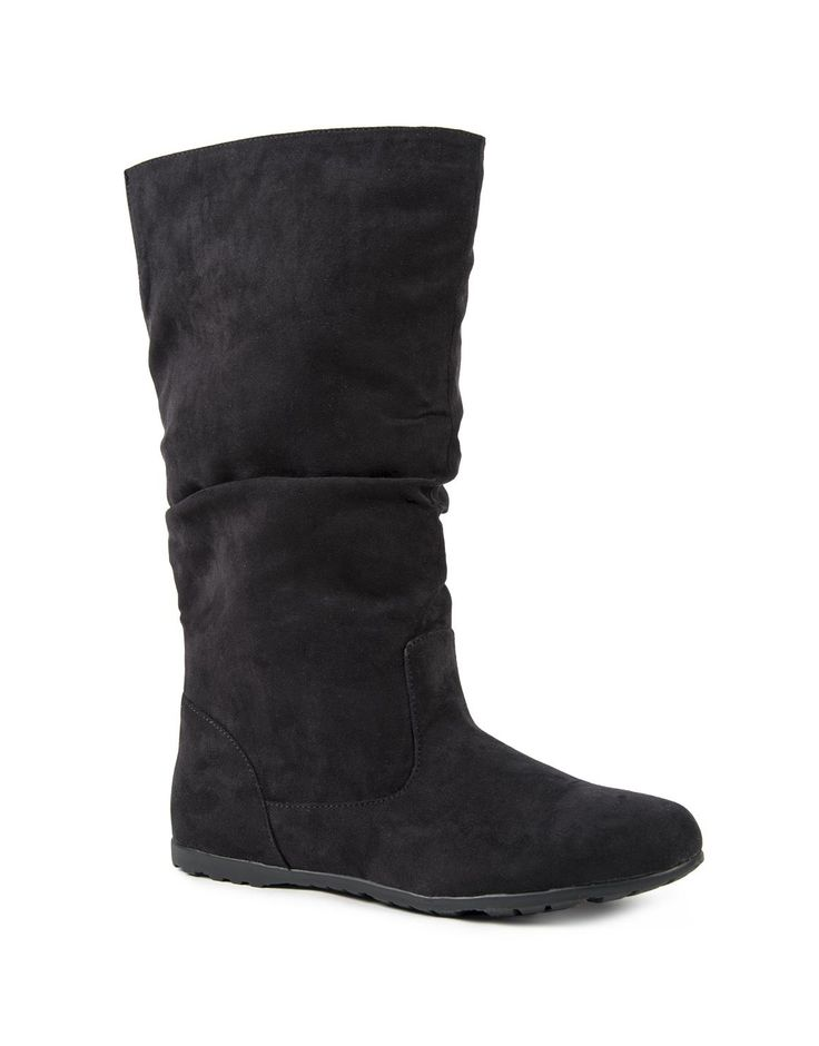 Slouch Microsuede Boots