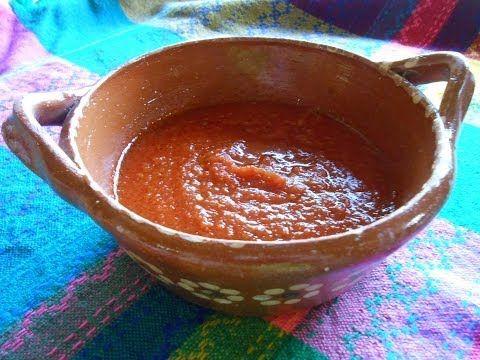 Salsa Roja Mexicana de Chile Chipotle - YouTube