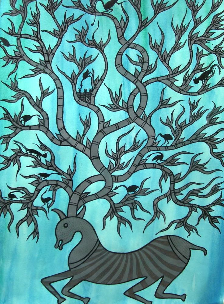 Gond Painting, from India